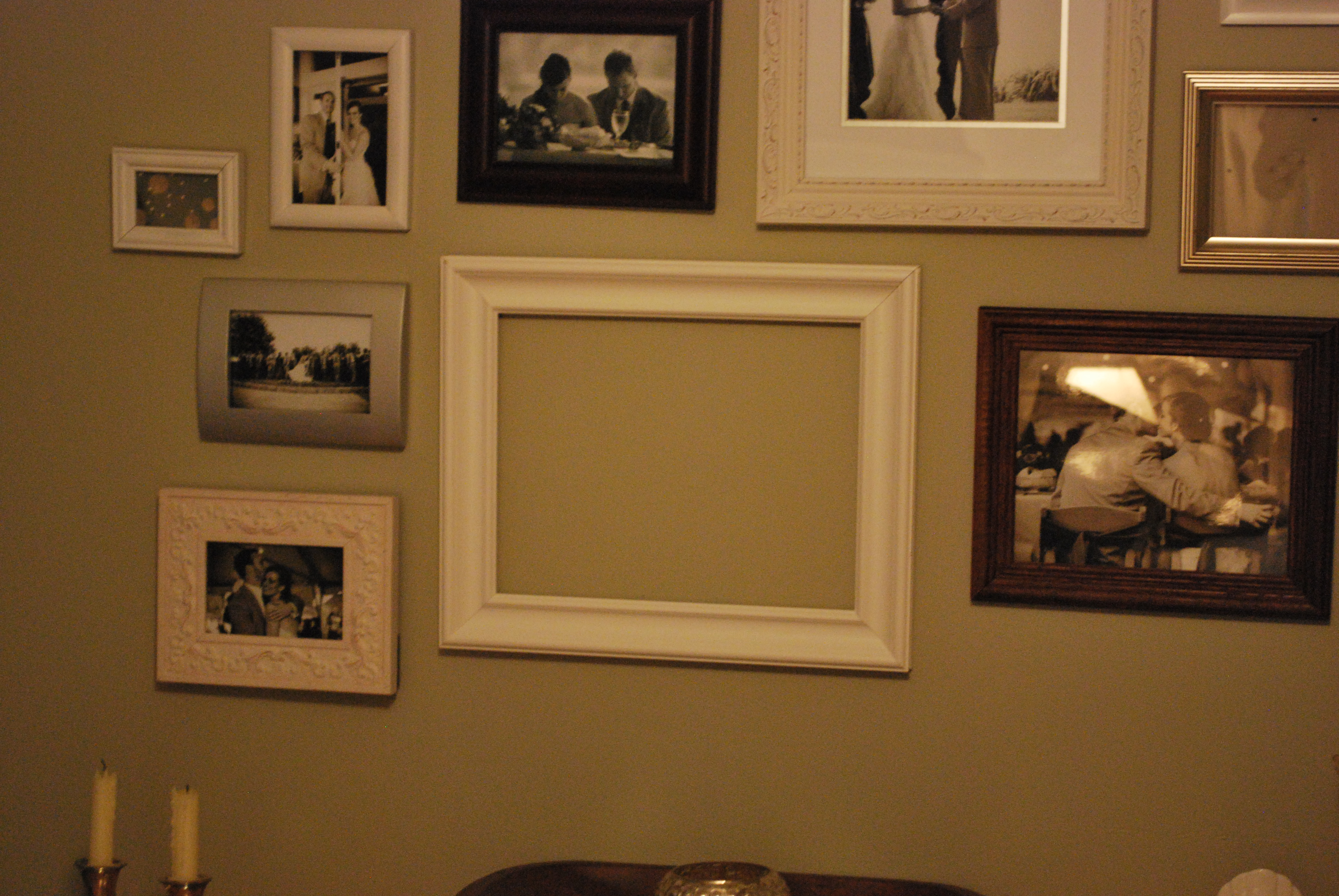 Our Wedding Gallery Wall