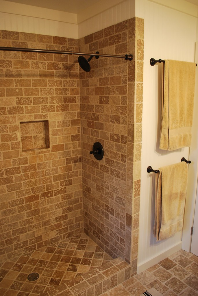 After five months Bathroom remodel ideas with stand up shower