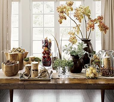 Such Pretty Displays! I Love The Natural Elements Used For Thanksgiving.  Moving On From Pottery Barn ...