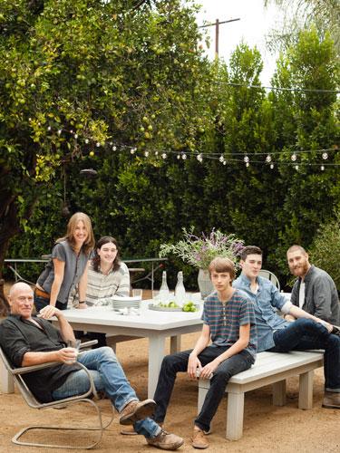 Corbin Bernsen's Family Outdoor Dining