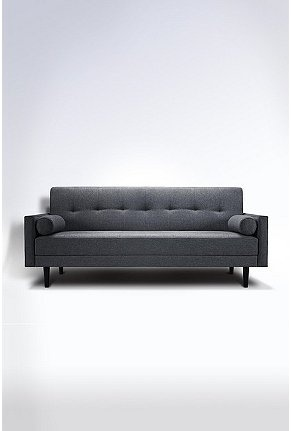 Gray mid-century modern sofa urban outfitters