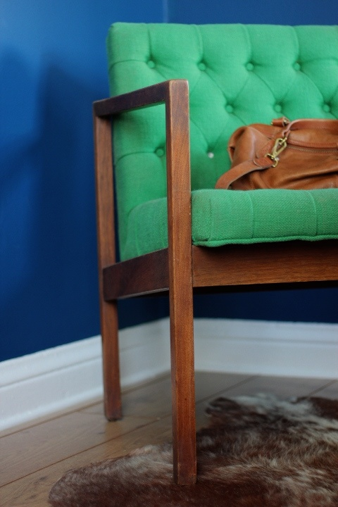 Mid-century modern green chair