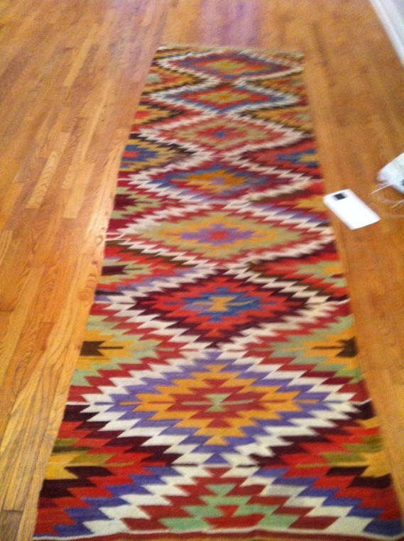 kitchen rug runners. vintage turkish distressed runner rug