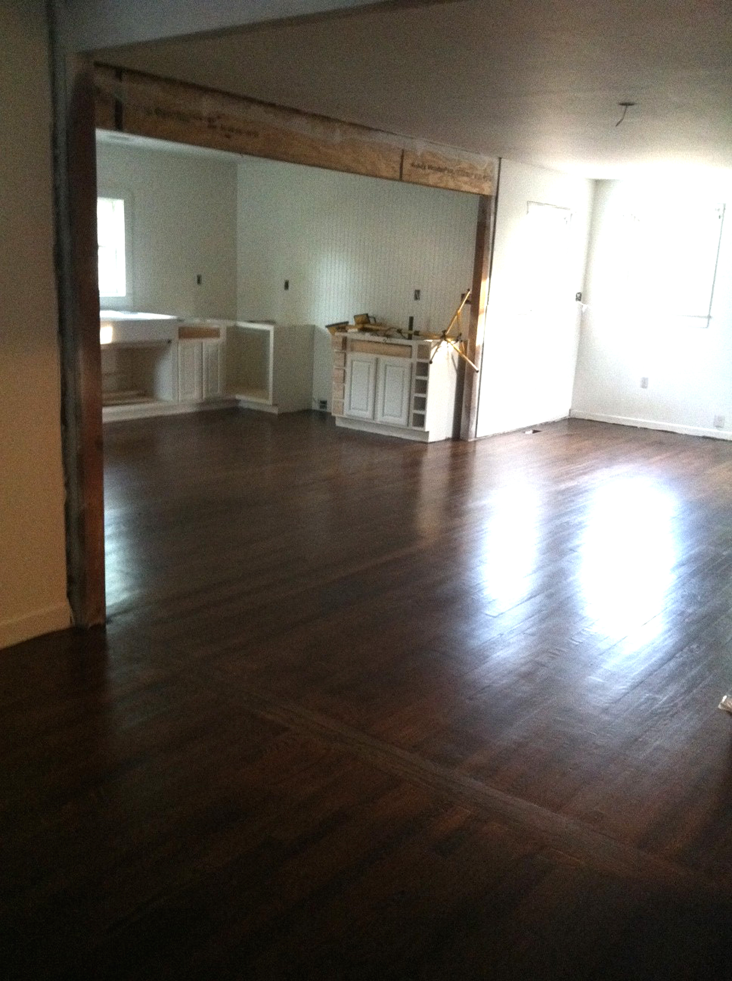 Dark Stain on Hardwood Floors - thewhitebuffalostylingco.com - ^