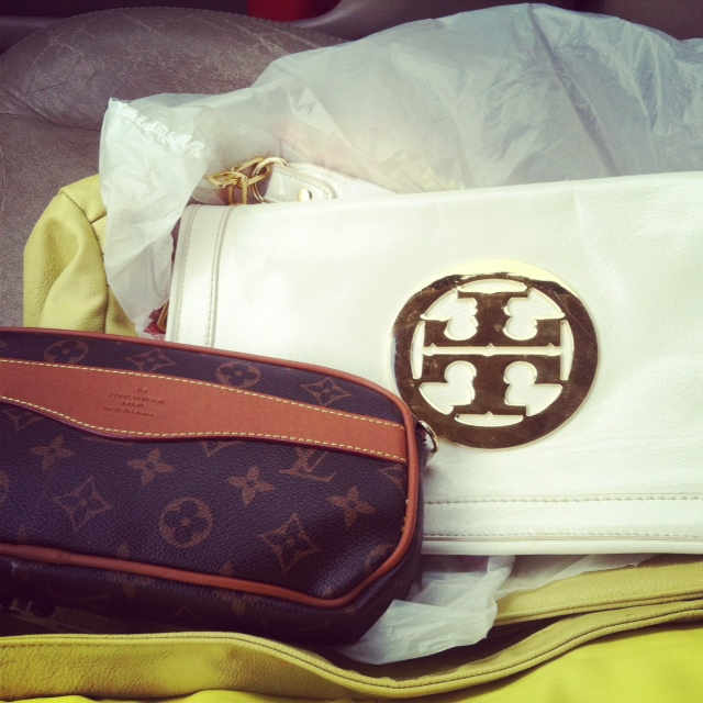 Tory burch and Louis Vuitton Thrifting Finds