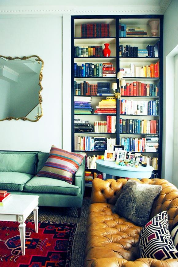 Little Green Notebook Shelves