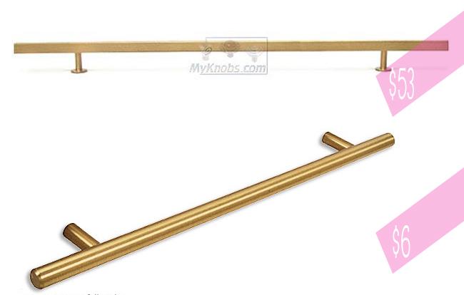 modern brass hardware