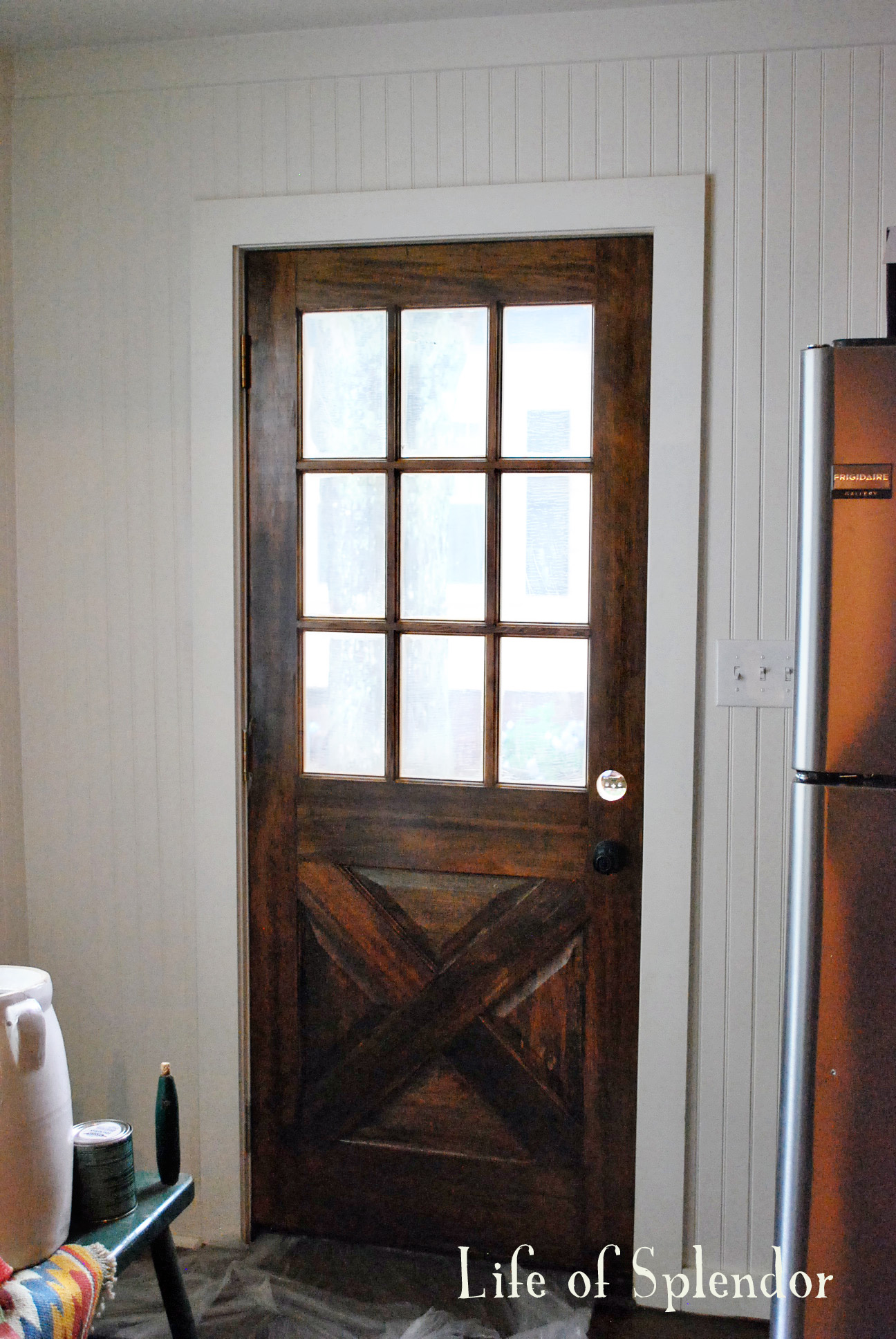 Kitchen Door After & Kitchen Door - thewhitebuffalostylingco.com