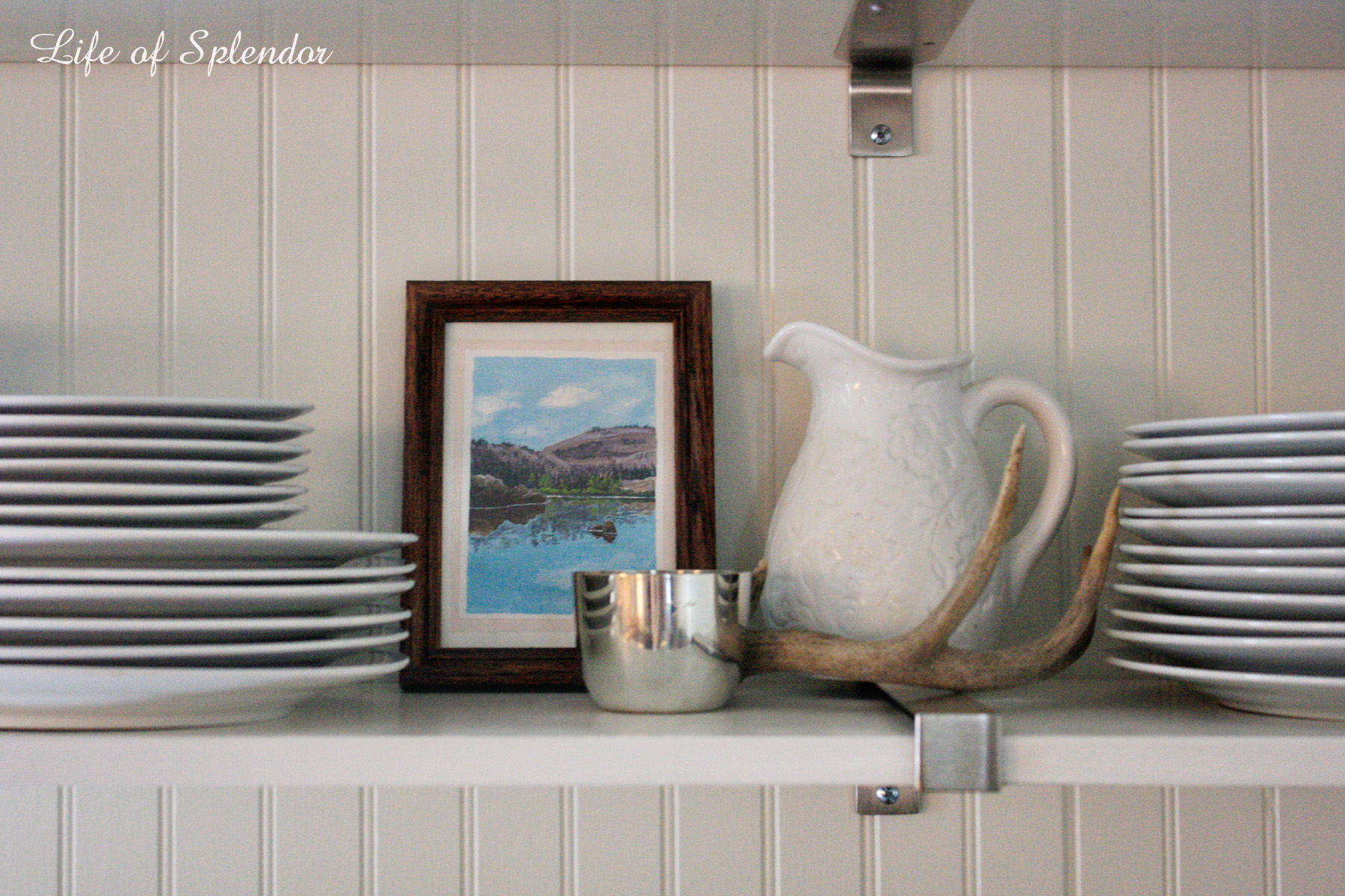 Life of Splendor Kitchen Shelf Styling