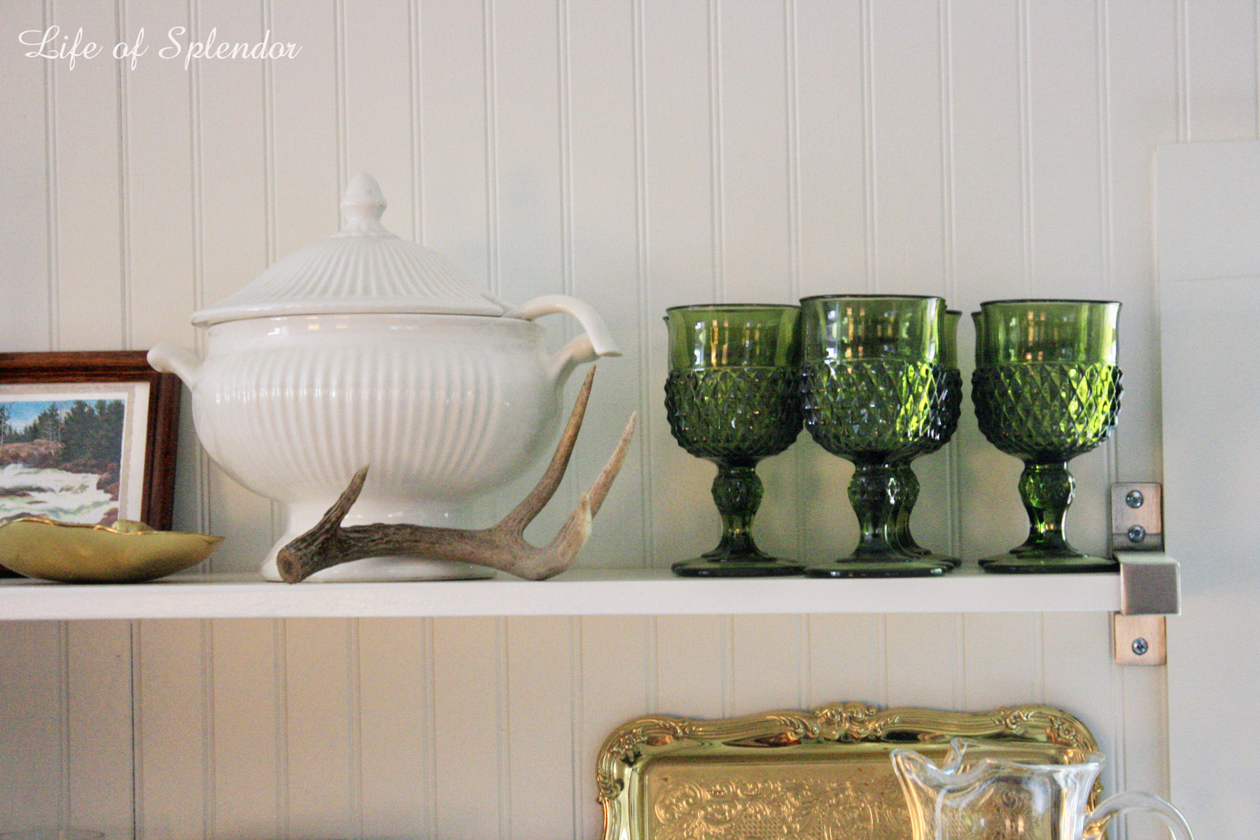 Life of Splendor Open Shelves Styling 2