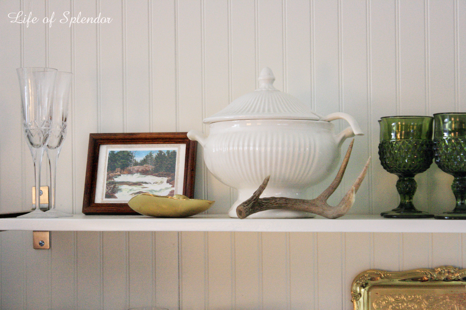 Life of Splendor Open Shelves Styling