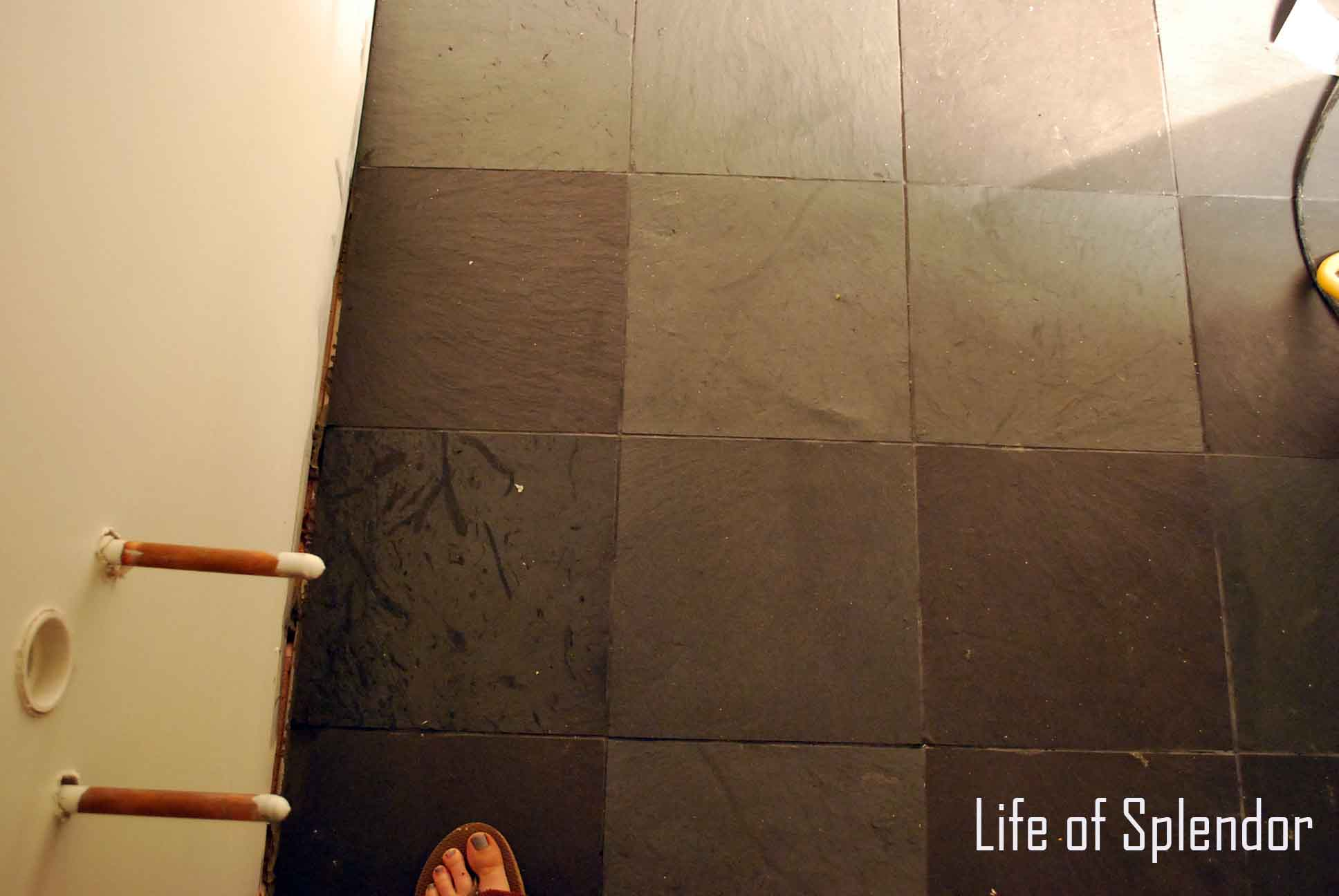 Master Bathroom Slate Tile