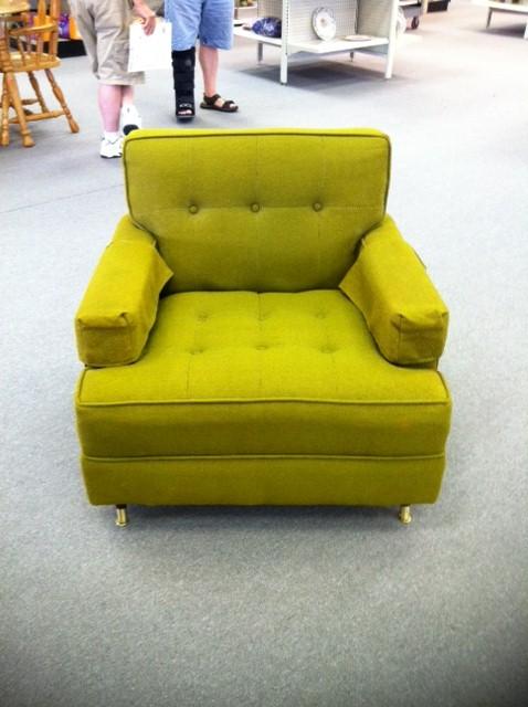 Mid Century Modern Tufted Chair