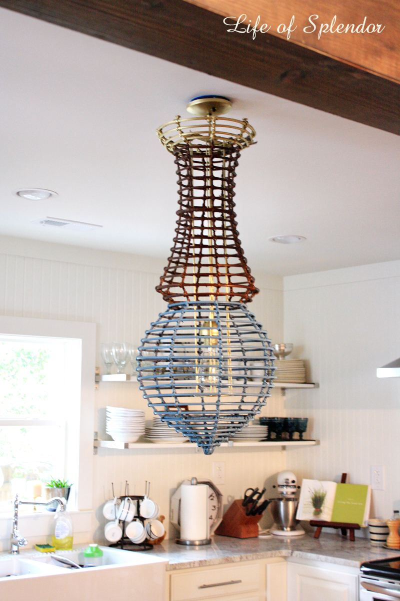 Paint Dipped Chandelier 4