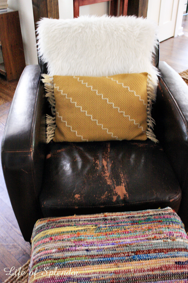 Softening up a Dark Leather Chair 3