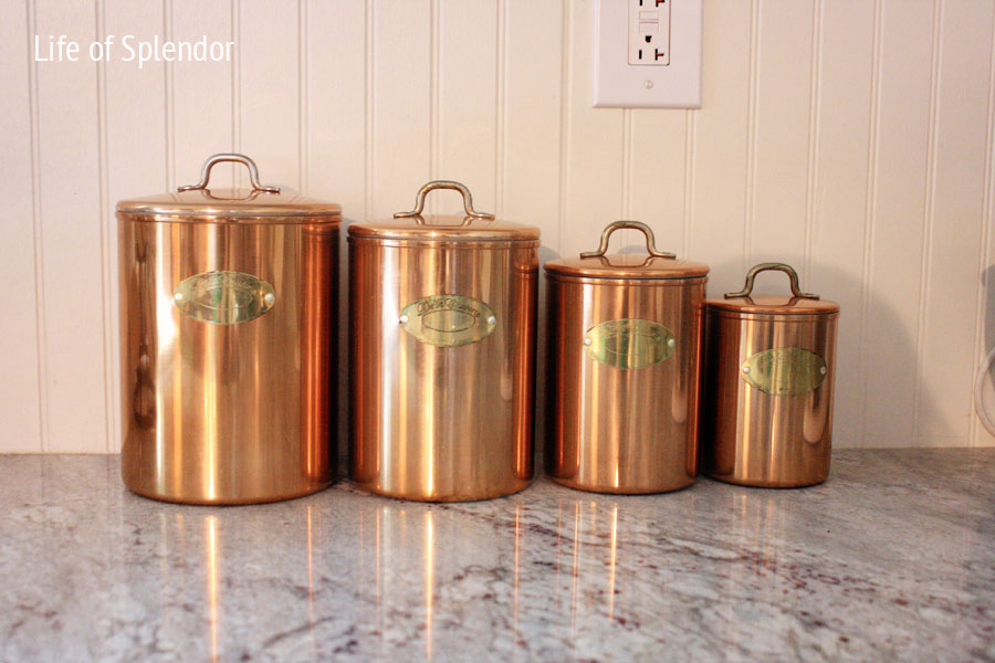 antique canisters kitchen vintage copper kitchen canisters 10123