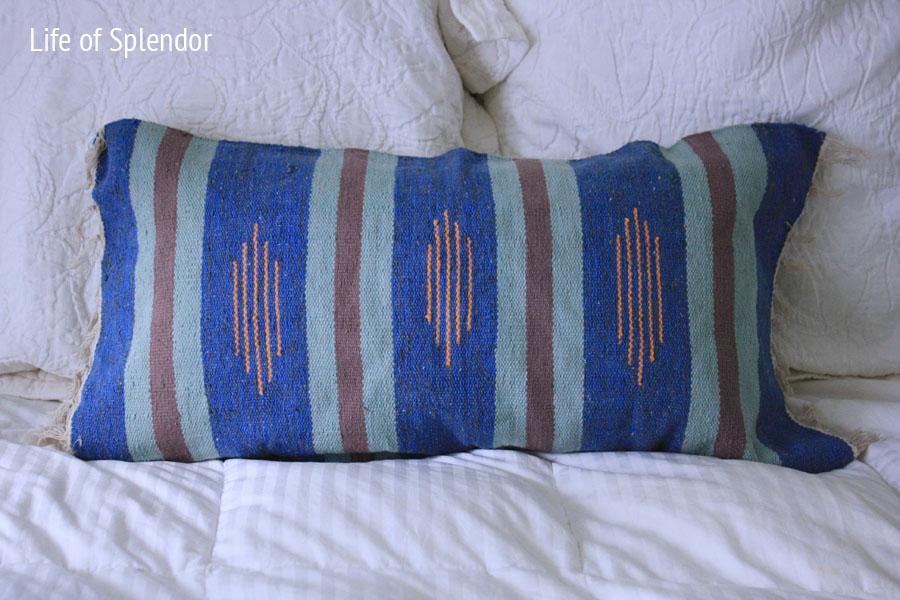 Kilim Rug Turned Pillow