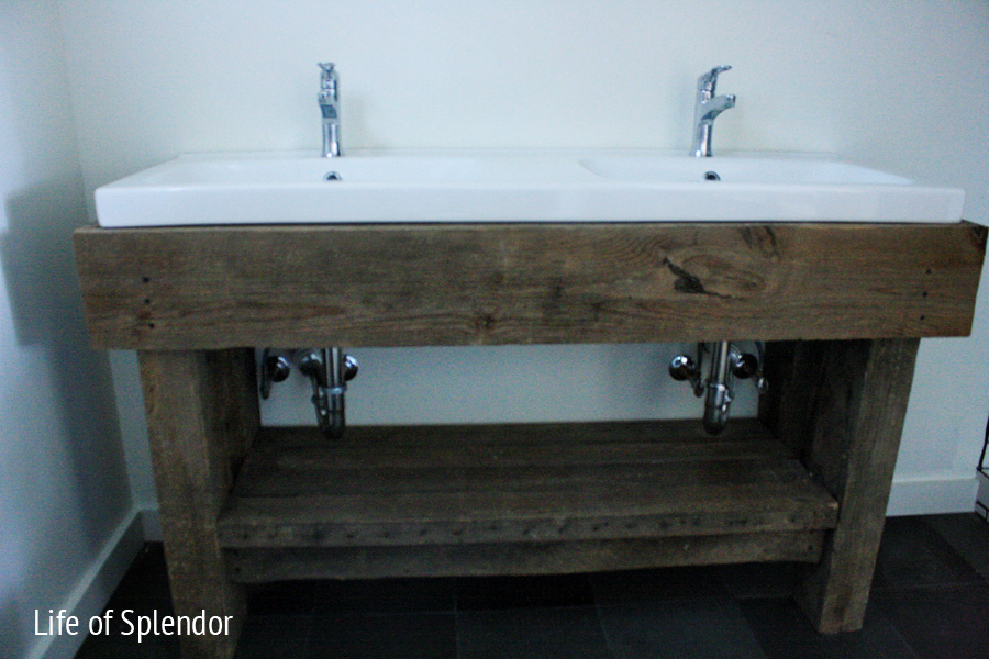 how to make a rustic bathroom vanity inspired design challenge week 4 anthropologie end table 26154