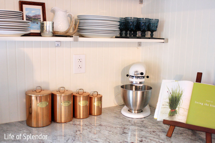 Exceptionnel Vintage Copper Canisters