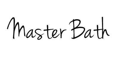 master bath sign