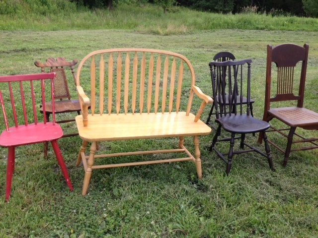 mis-matched chairs