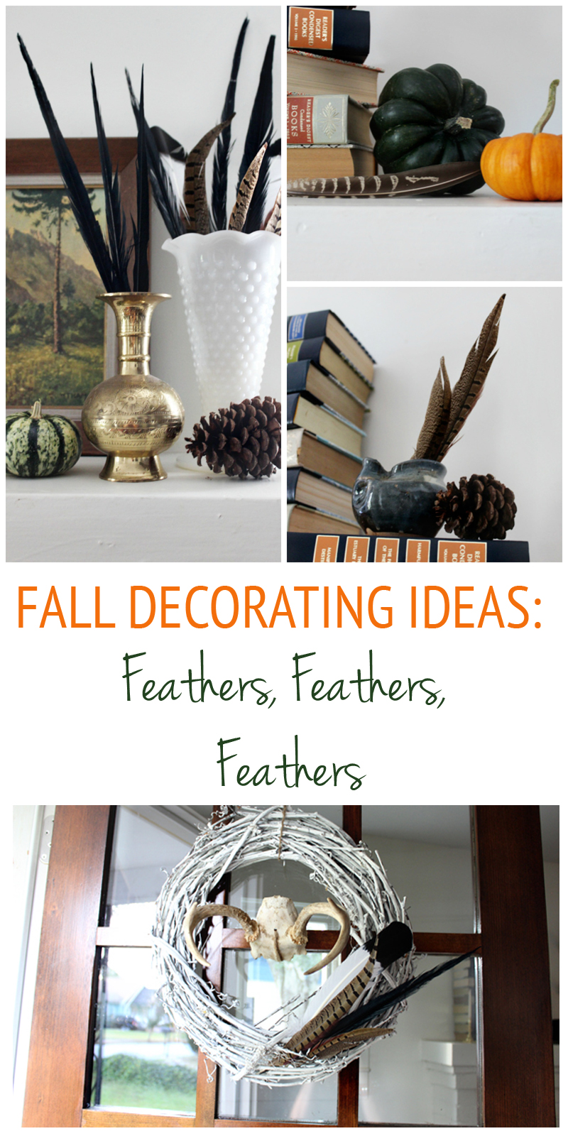 Fall Decorating with Feathers