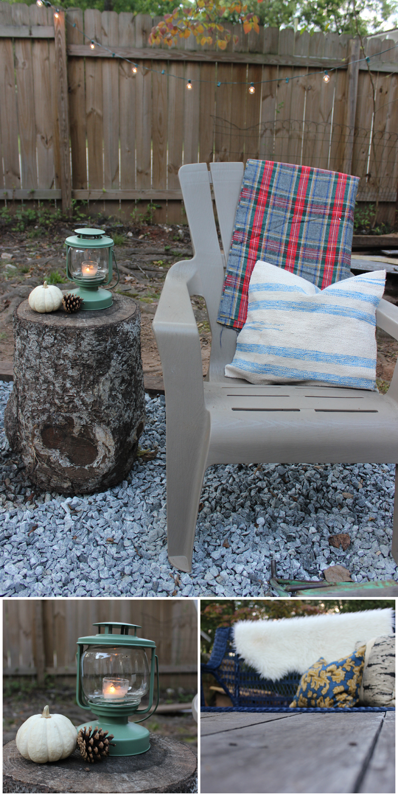 Fall Patio Styling