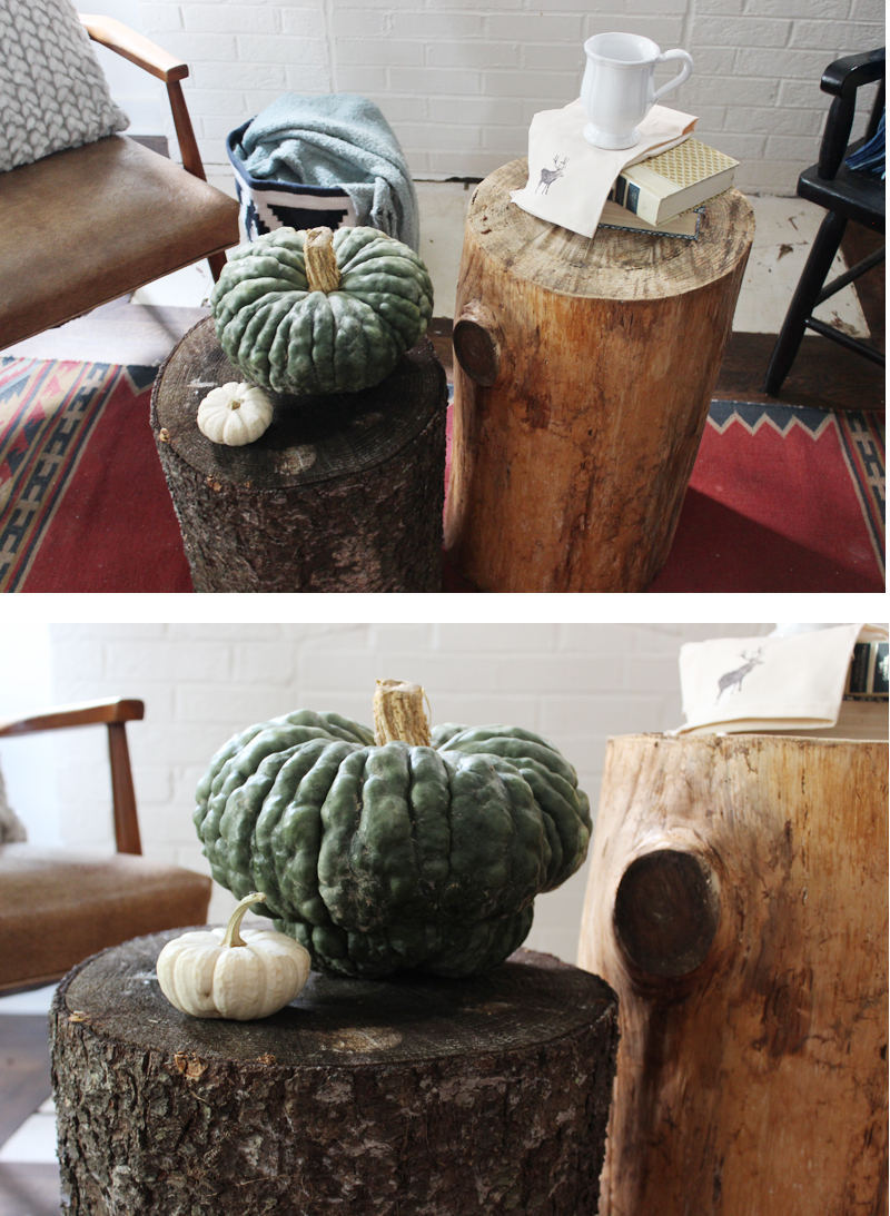 Fall Decorating with Heirloom Pumpkins and Wood