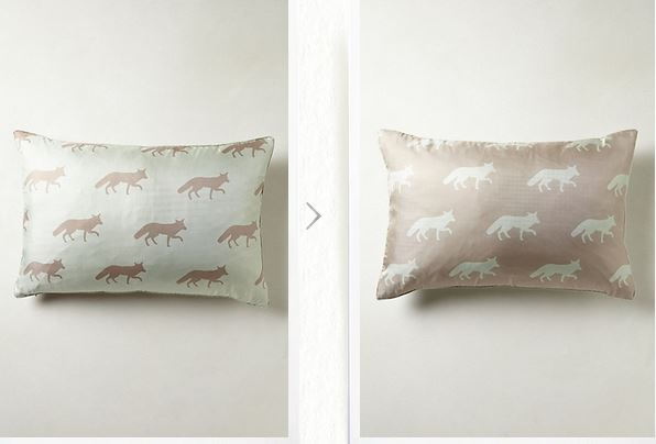 Fox Silhouette Pillow