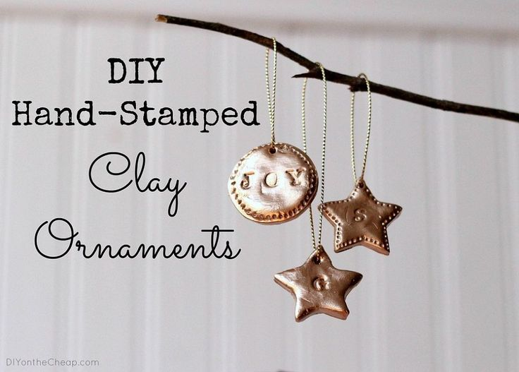 Handstamped Clay Ornaments