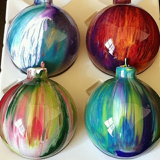 Paint Drip Ornaments