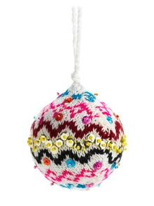 Sweater and Sequin DIY Ornament