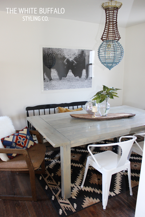 Our Dining Room Before After thewhitebuffalostylingco – Bohemian Dining Room