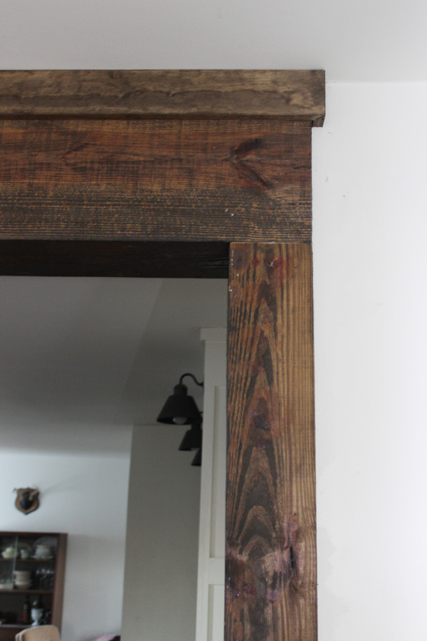 creating faux wood beams
