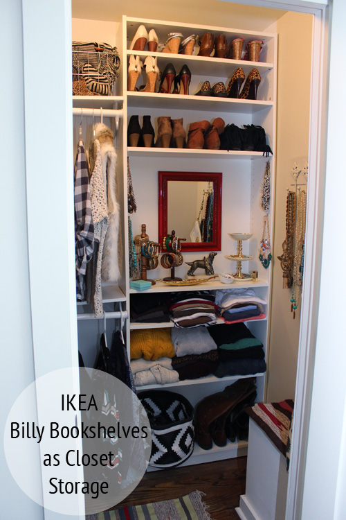 Ikea Billy Bookshelves As Custom Closet Storage