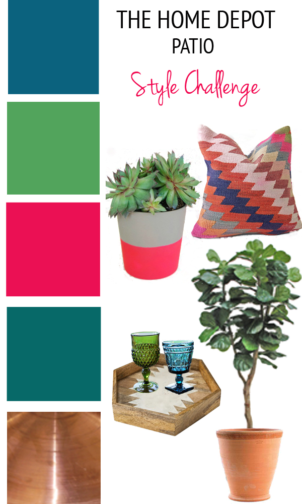 Patio Style Challenge Mood Board from thewhitebuffalostylingco.com