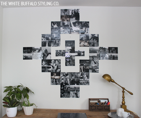 Southwestern Family Portrait Art Wall by thewhitebuffalostylingco.com