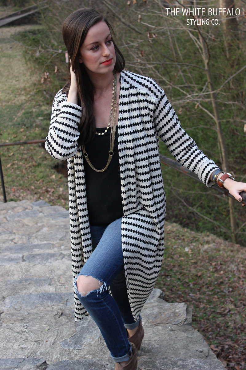 black-and-white-cardigan