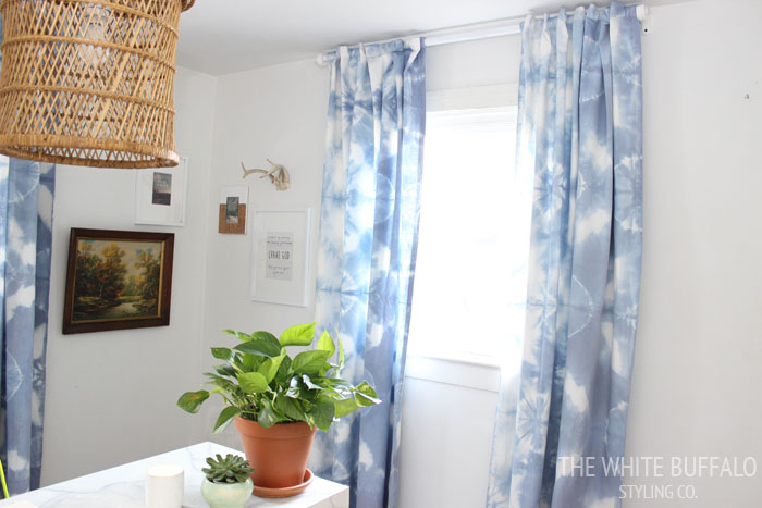 Tie Dye Curtains from thewhitebuffalostylingco.com