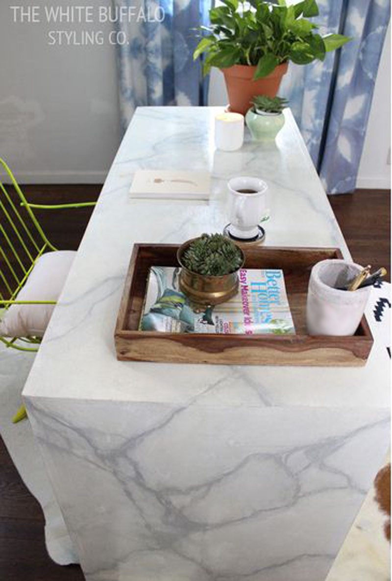 Awesome Faux Marble Desk