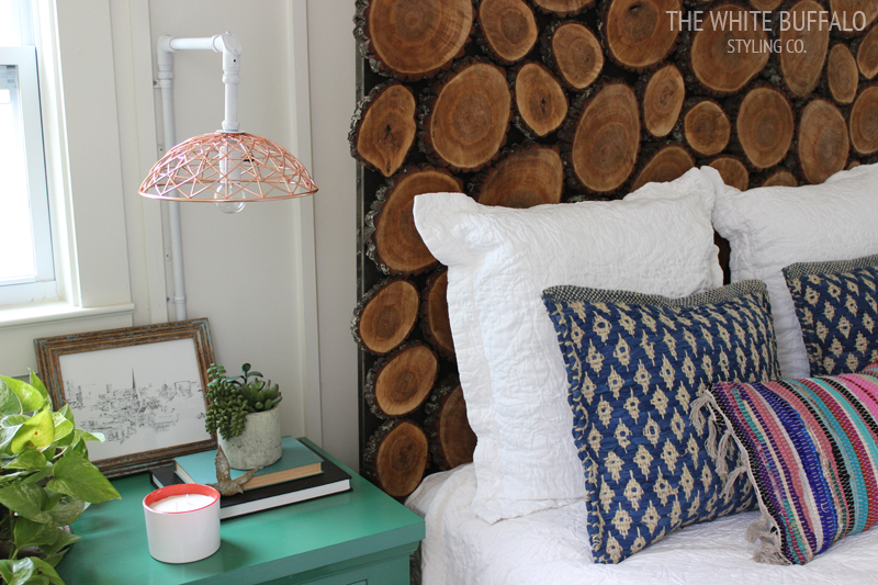 diy wood round headboard