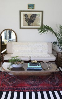Dough-Bowl-Turned-Coffee-Table-Bath-Mat-Turned-Moroccan-Wedding-Blanket
