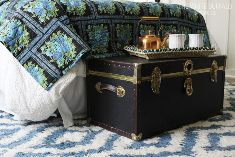 Black and Gold Vintage Trunk