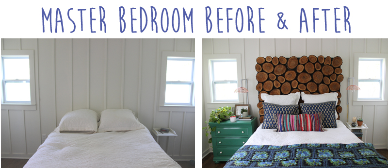 Master Bedroom Before and After from thewhitebuffalostylingco.com