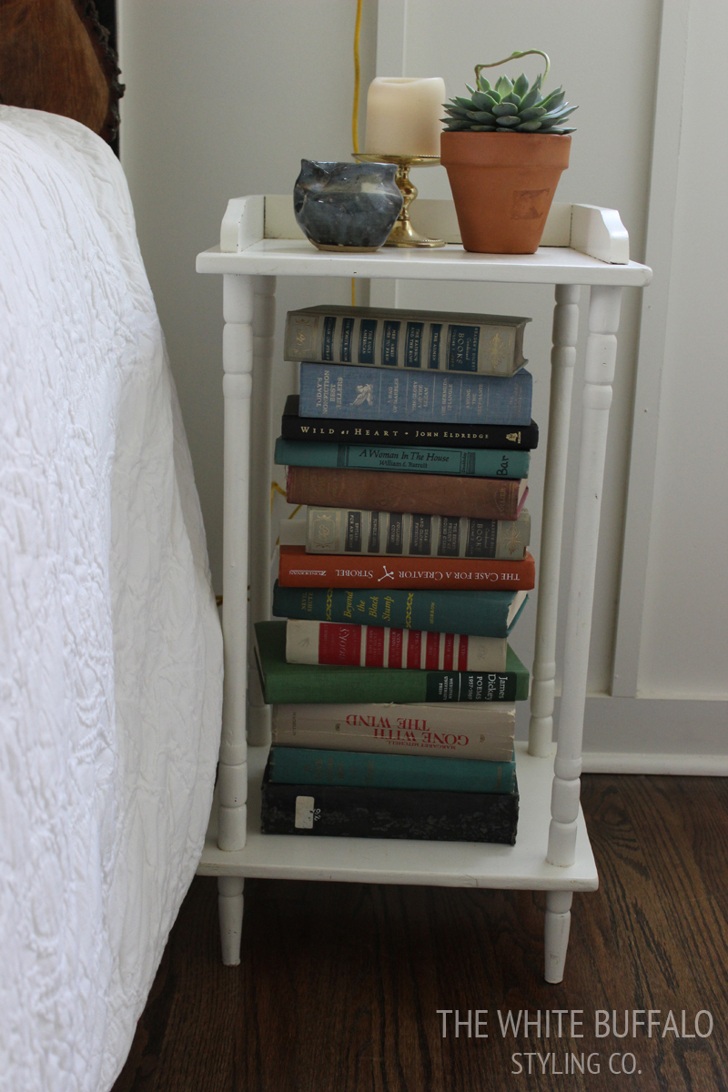 Styling a Small Nightstand