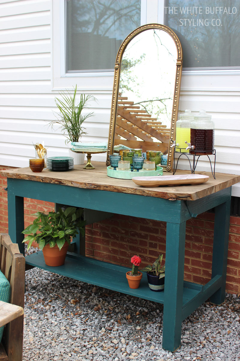 Styling an Outdoor Buffet