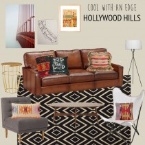 Cool with an Edge Hollywood Hills Living Room