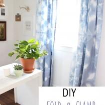 DIY Fold & Clamp Tie Dye