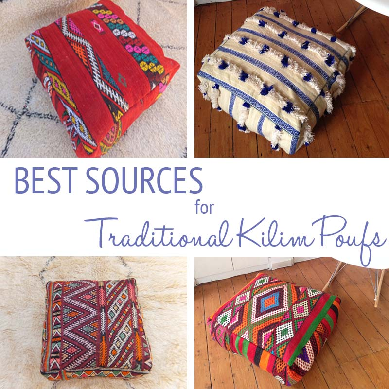 The Best Sources for Traditional Kilim Poufs