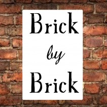 Success comes from working brick by brick
